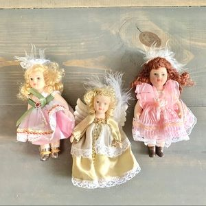 Vintage Small Porcelain Doll Figurines Set of 3